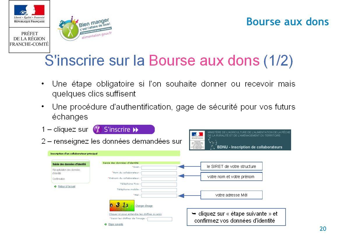 20 Bourse aux dons