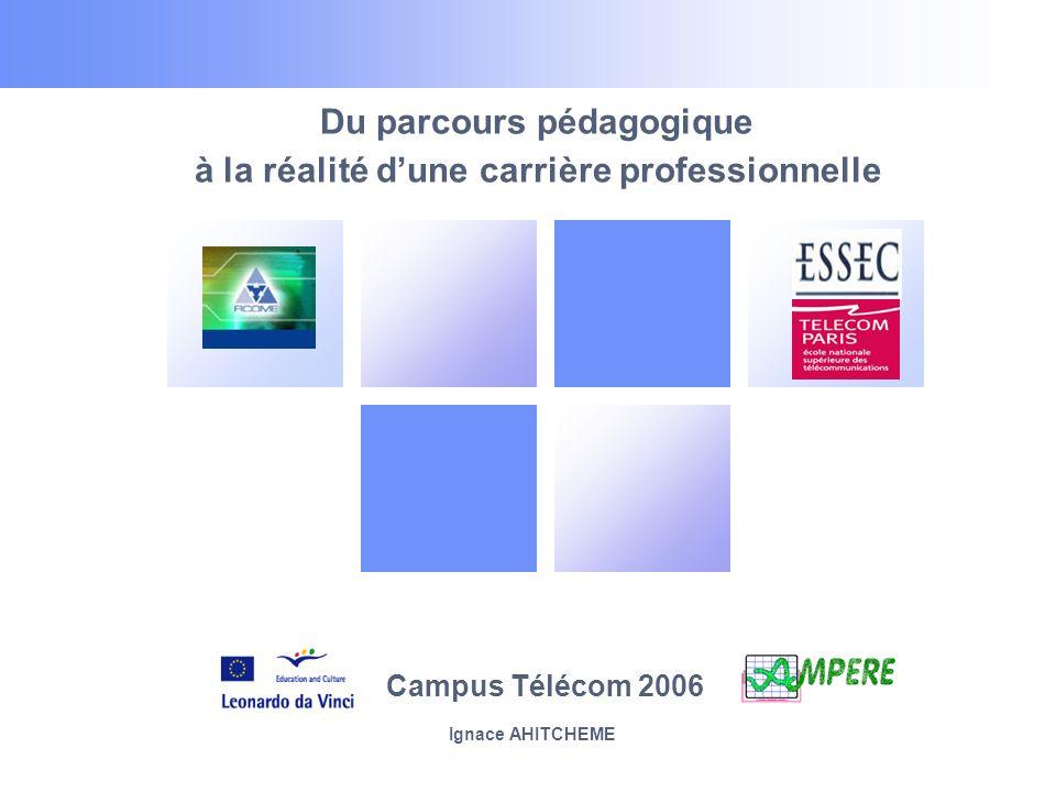 Du parcours pédagogique à la réalité dune carrière professionnelle Campus Télécom 2006 Ignace AHITCHEME