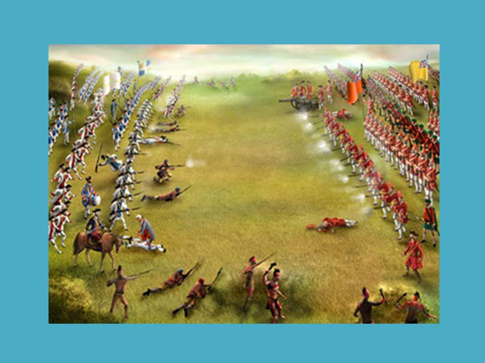 Seuls les Canadiens se comportent convenablement et poussent l attaque, pendant que l armée française en déroute, fuit vers les remparts de la ville.
