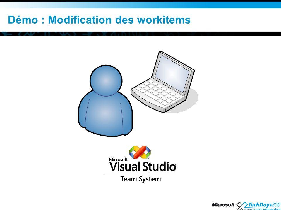 Démo : Modification des workitems