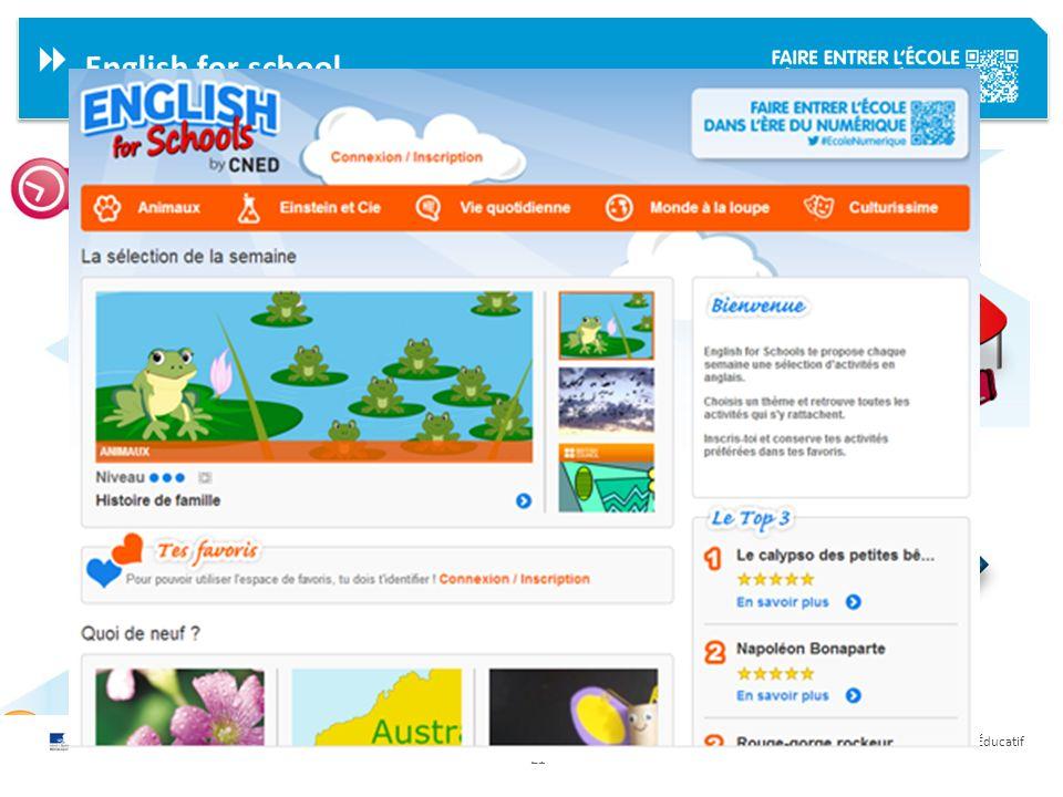 21 Délégation Académique au Numérique Éducatif English for school