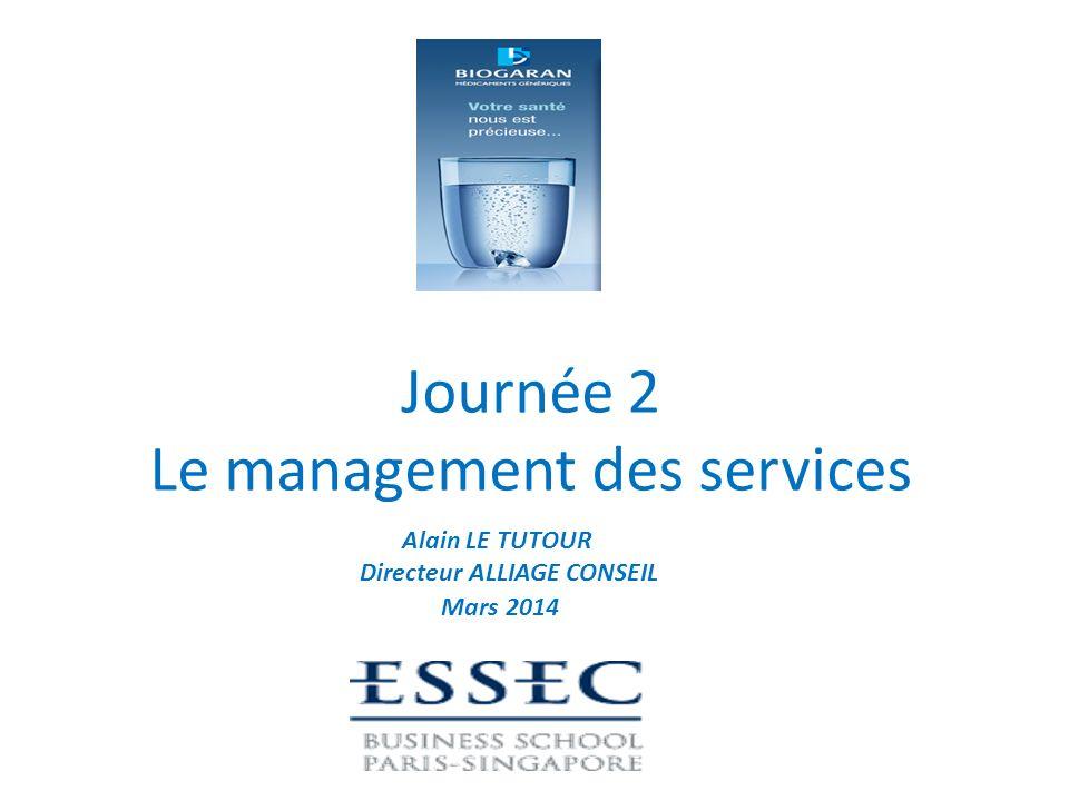Rappel du cursus ESSEC - BIOGARAN Journée 1 Les enjeux du marketing et des services Journée 2 Le management des services Journées 3 Innovation et perspectives dans la nouvelle économie