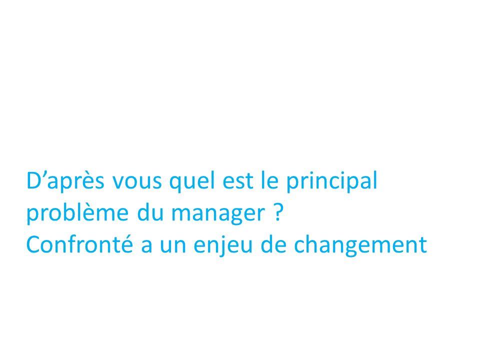 Daprès vous quel est le principal problème du manager ? Confronté a un enjeu de changement