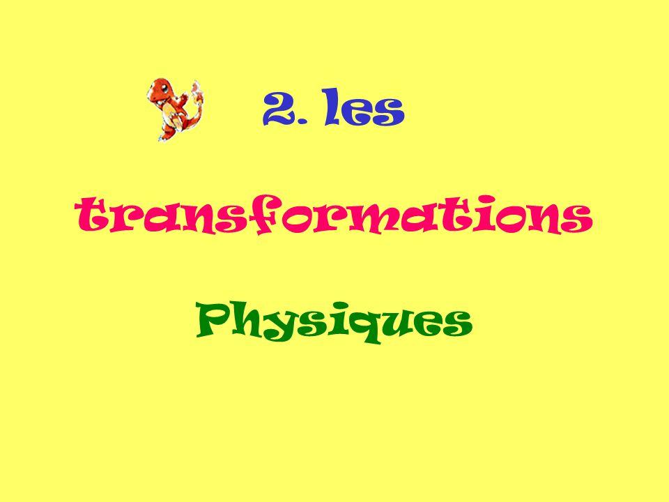 2. les transformations Physiques