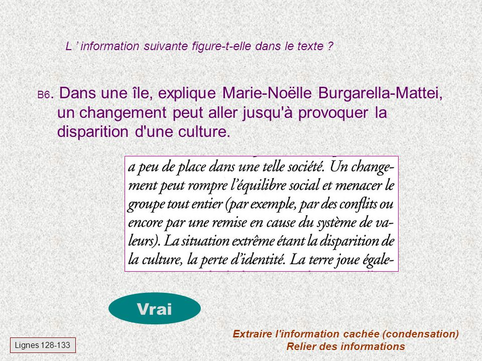 B5. L'article de Françoise Robert a été publié dans