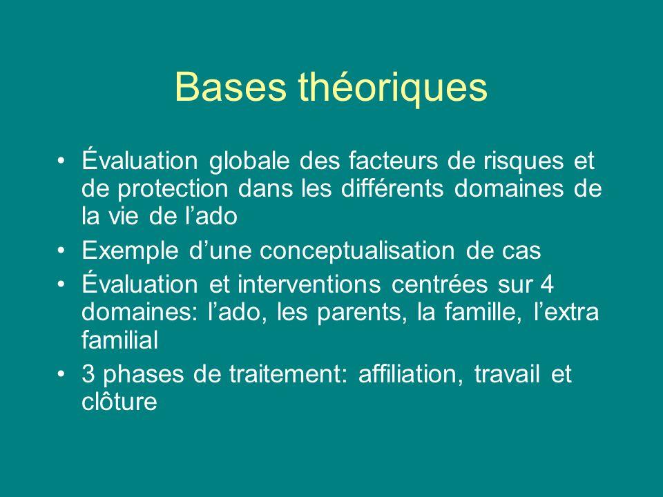 Bases théoriques Évaluation globale des facteurs de risques et de protection dans les différents domaines de la vie de lado Exemple dune conceptualisa