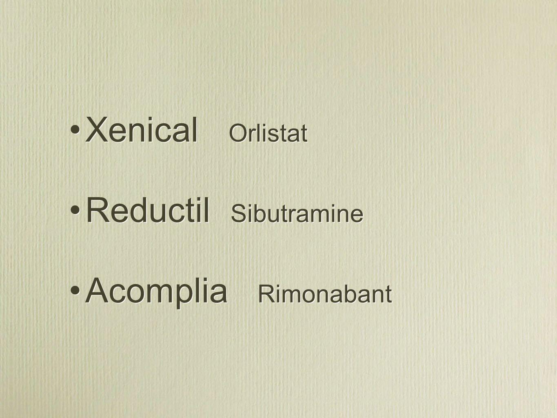 Xenical Orlistat Reductil Sibutramine Acomplia Rimonabant Xenical Orlistat Reductil Sibutramine Acomplia Rimonabant