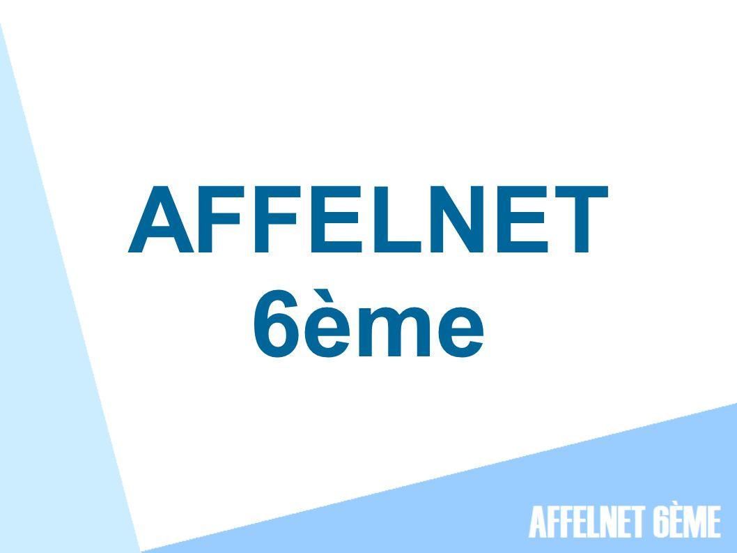 AFFELNET 6ème