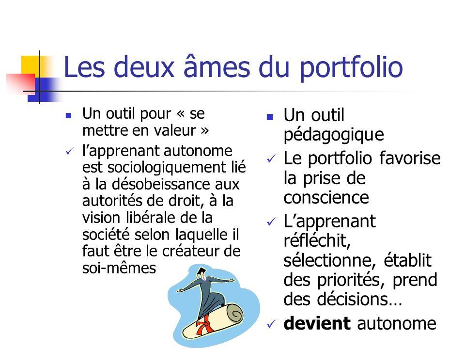 Les deux âmes du portfolio Un outil pour « se mettre en valeur » lapprenant autonome est sociologiquement lié à la désobeissance aux autorités de droi