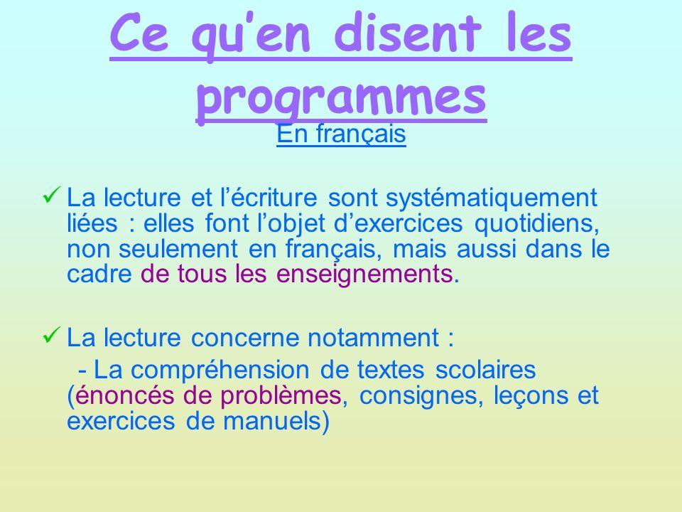 Ce quen dit le socle commun Pour la compétence 1 (maîtrise de la langue française) : Lélève est capable de lire seul et comprendre un énoncé.