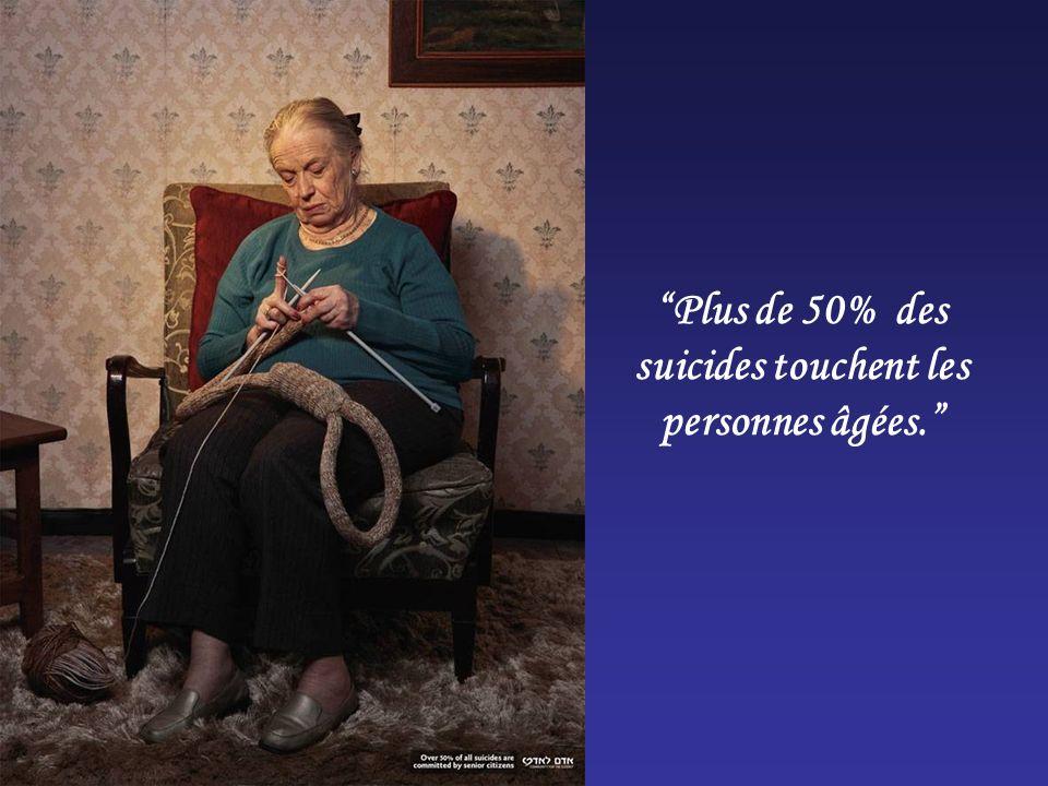 Plus de 50% des suicides touchent les personnes âgées.