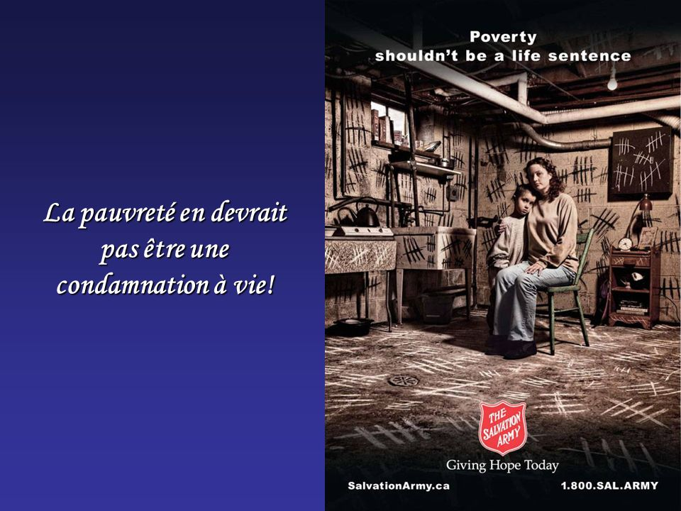 La pauvreté en devrait pas être une condamnation à vie!