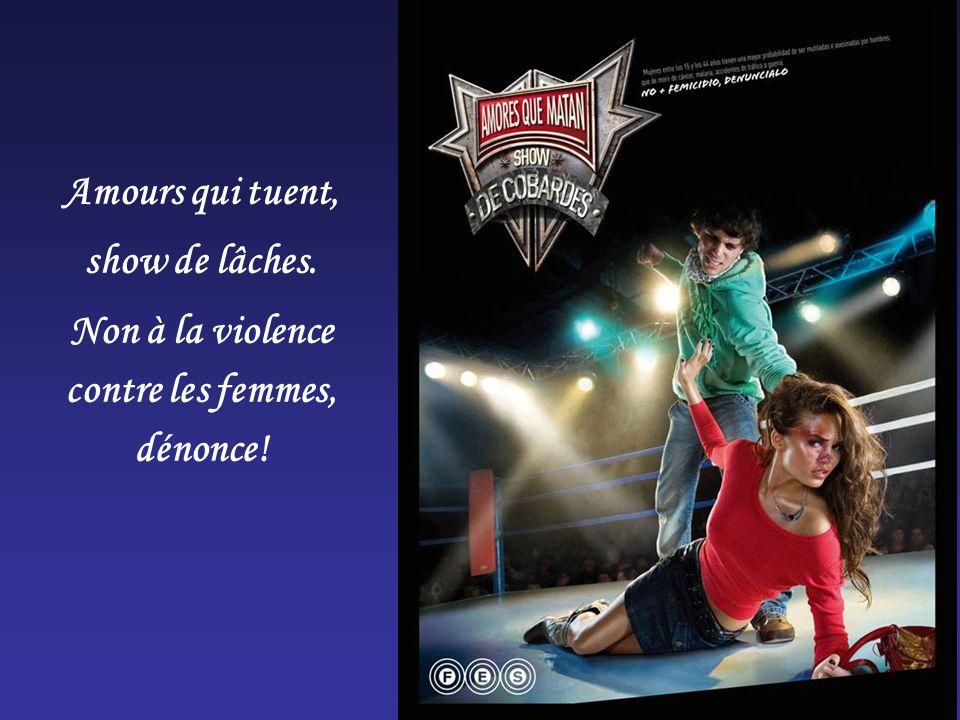 Amours qui tuent, show de lâches. Non à la violence contre les femmes, dénonce!