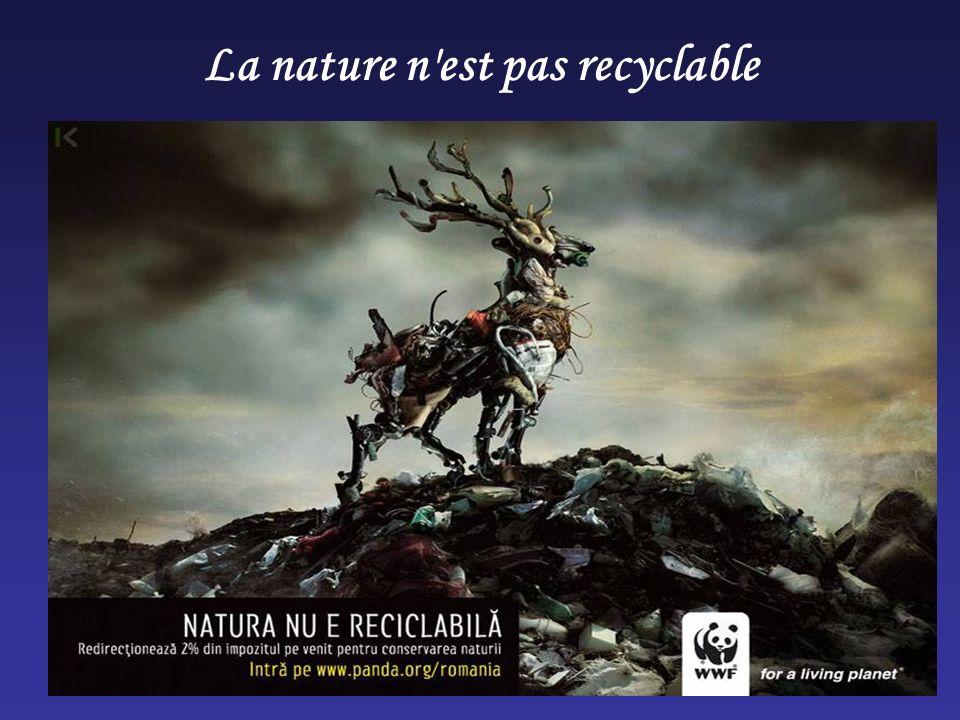 La nature n'est pas recyclable