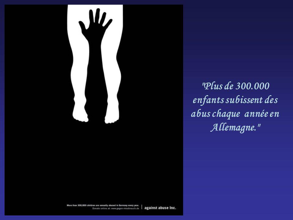 Plus de 300.000 enfants subissent des abus chaque année en Allemagne.