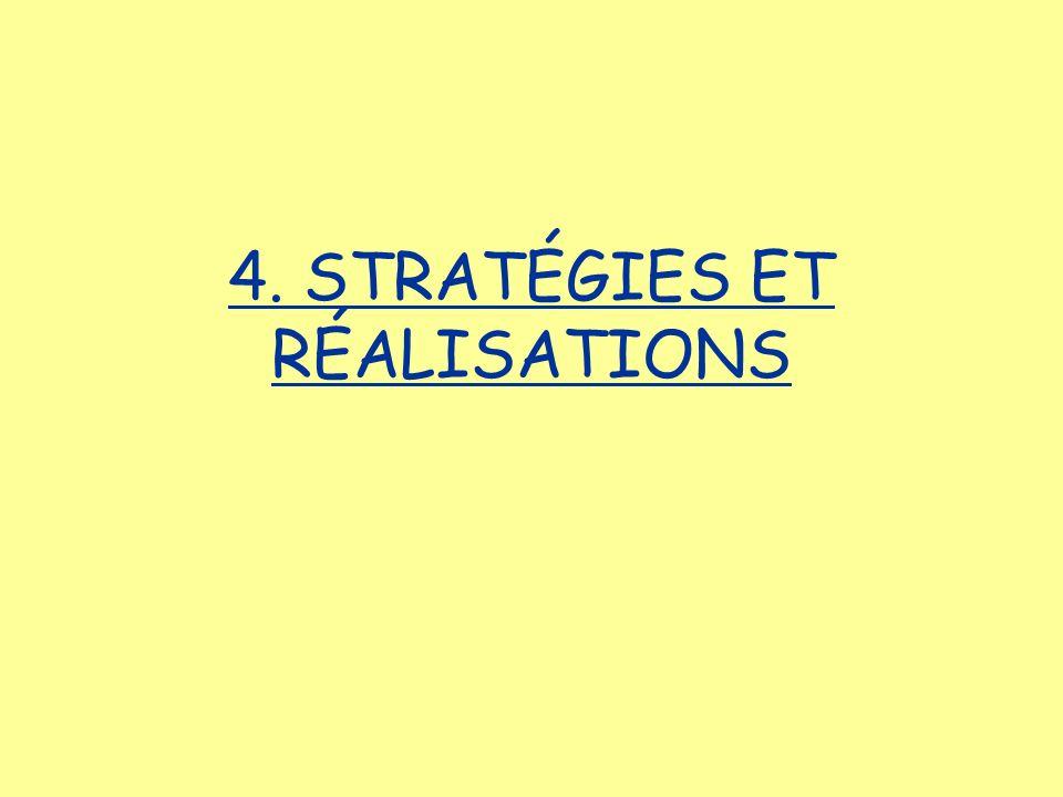 4. STRATÉGIES ET RÉALISATIONS