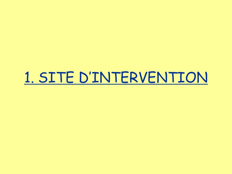 1. SITE DINTERVENTION