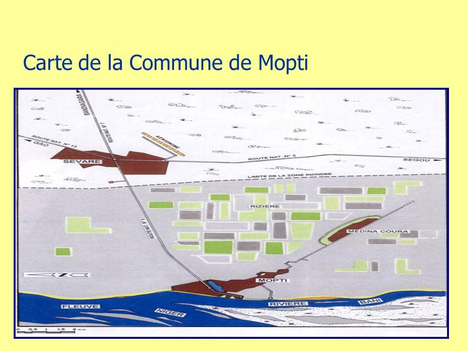 Carte de la Commune de Mopti