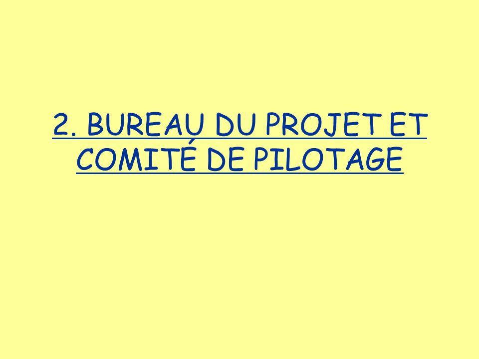 2. BUREAU DU PROJET ET COMITÉ DE PILOTAGE