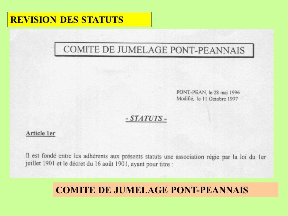 REVISION DES STATUTS COMITE DE JUMELAGE PONT-PEANNAIS