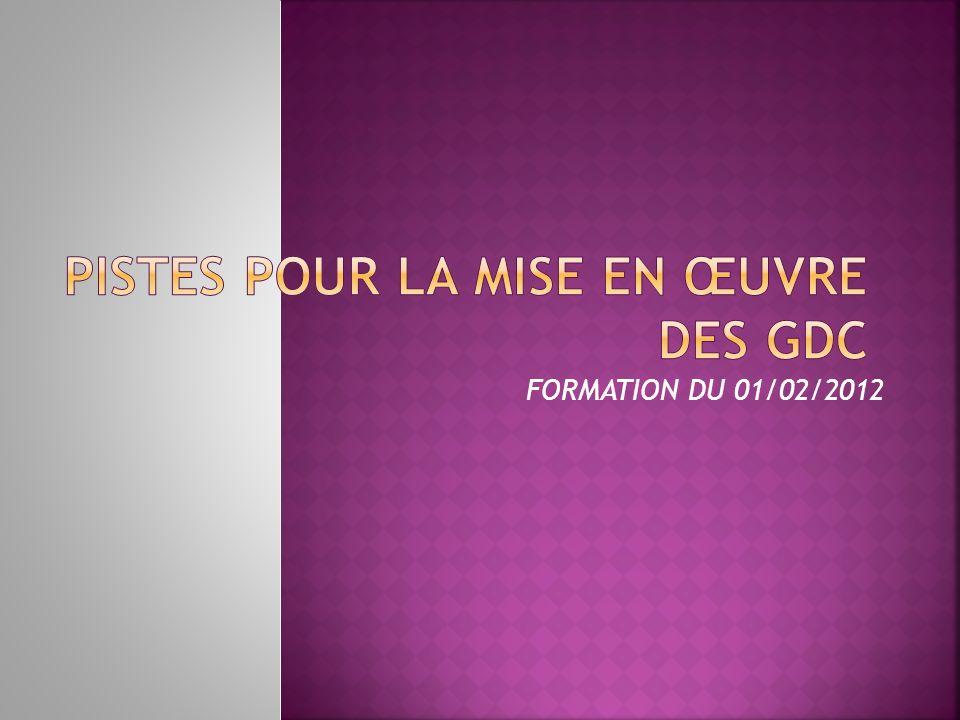 FORMATION DU 01/02/2012