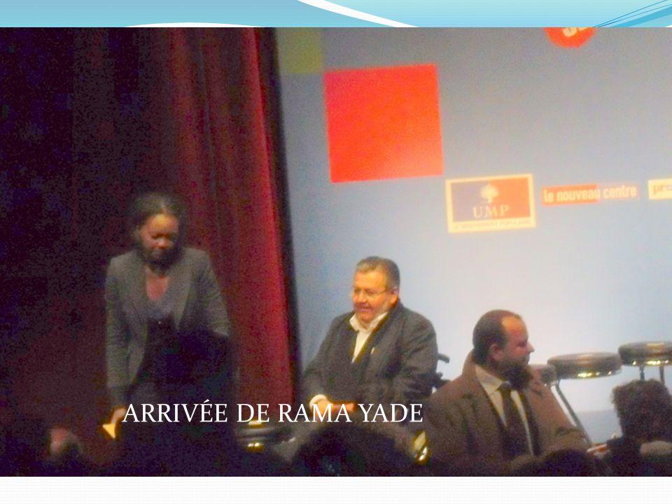 ARRIVÉE DE RAMA YADE