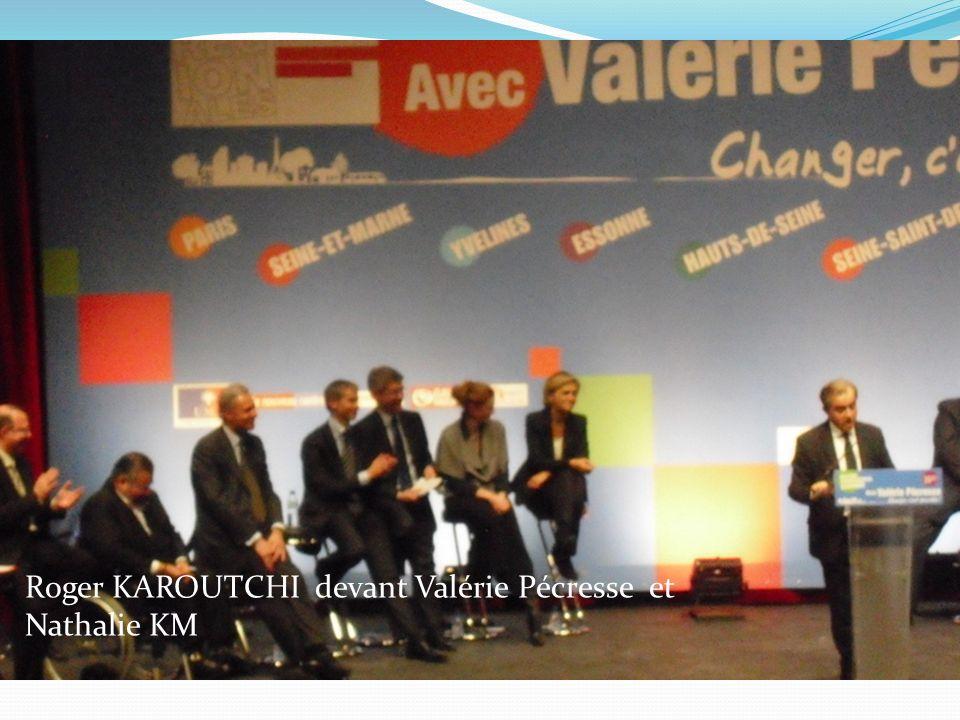 Au micro : F.Valletoux, porte parole de la campagne