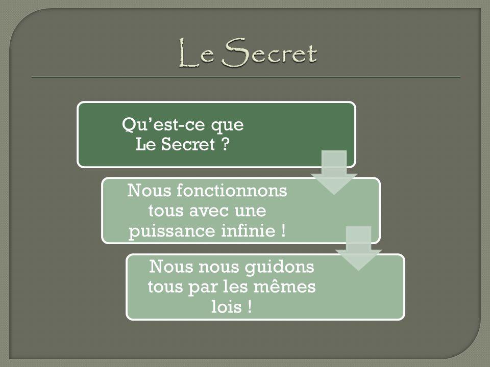 Quest-ce que Le Secret .Nous fonctionnons tous avec une puissance infinie .