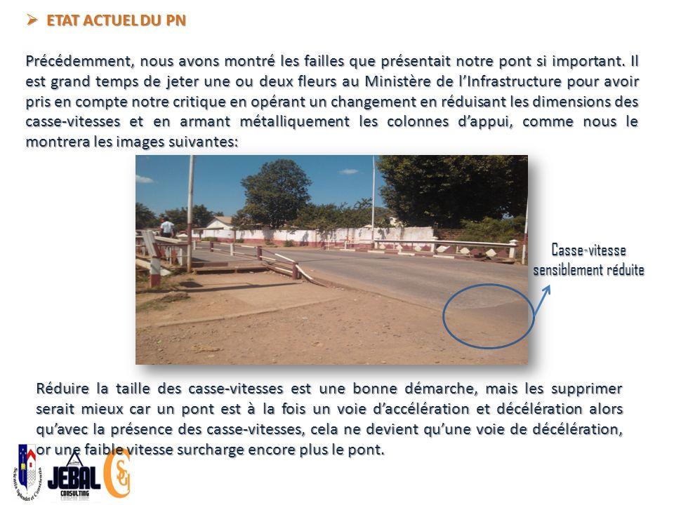 ETAT ACTUEL DU PN ETAT ACTUEL DU PN Précédemment, nous avons montré les failles que présentait notre pont si important.