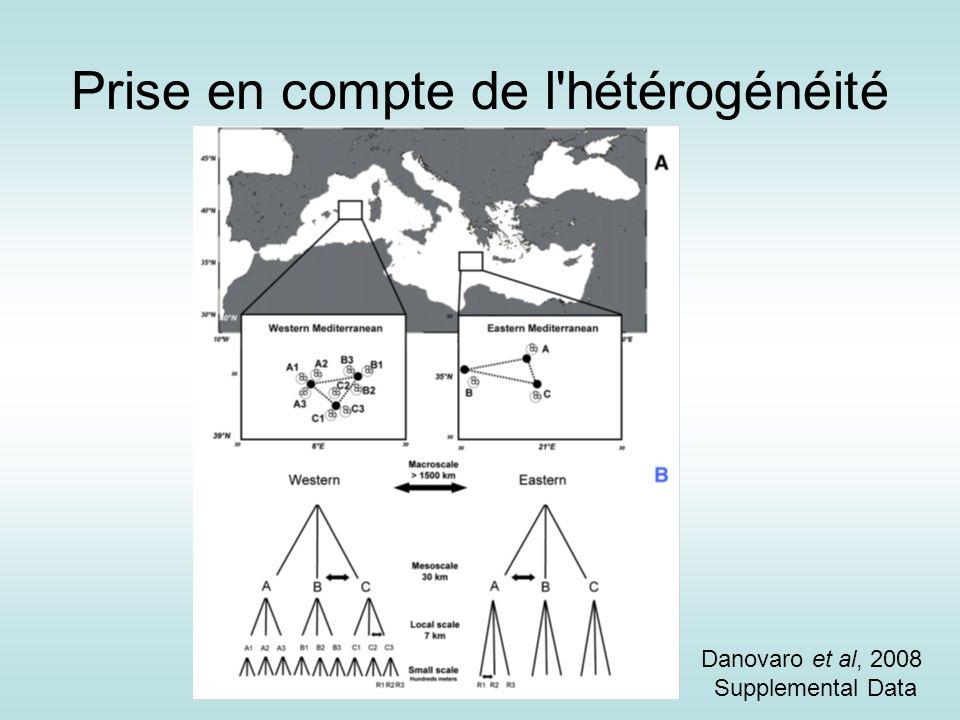 Prise en compte de l'hétérogénéité Danovaro et al, 2008 Supplemental Data