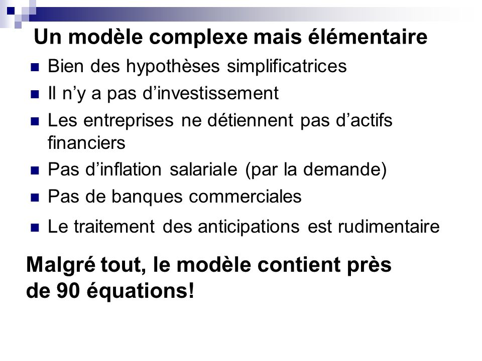 Les conditions Marshall-Lerner .