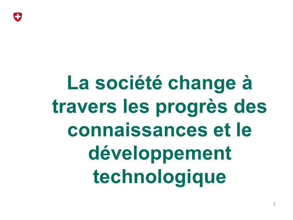 La société change à travers les progrès des connaissances et le développement technologique 3