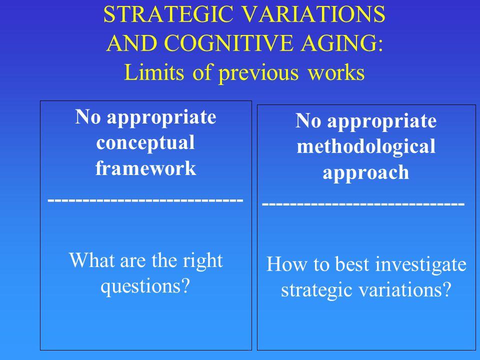 Cognitive Strategy : Definition « Procedure or set of procedures to accomplish a high-level goal » (Lemaire & Reder, Mem&Cog, 1999, p.
