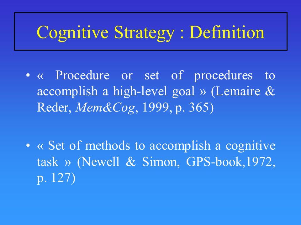 Raisonnement Verbal: Interaction Enoncé x Stratégie Reichle et al. (2000)