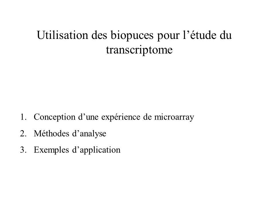 Comment concevoir une expérience de microarrays .
