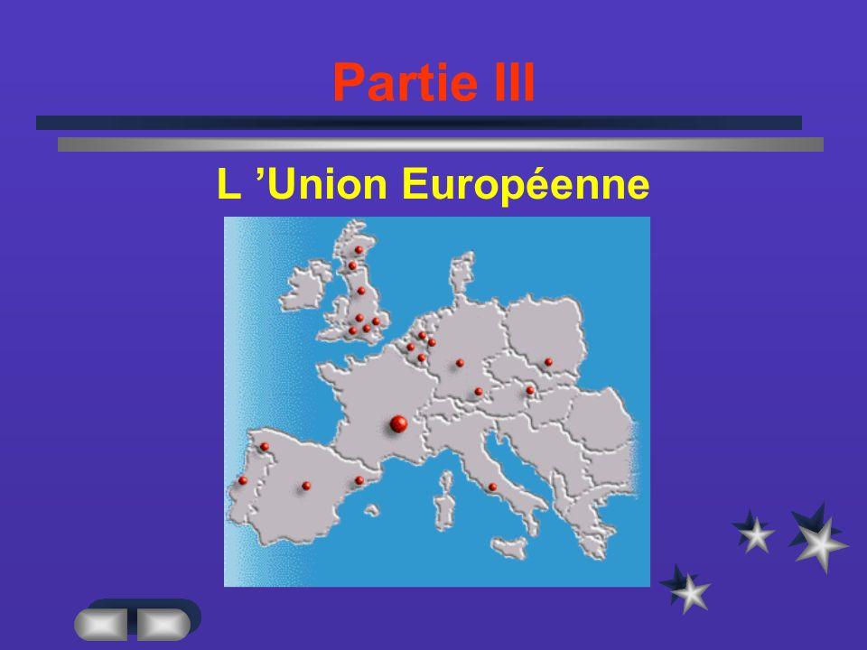 Partie III L Union Européenne