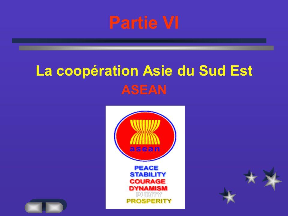 Partie VI La coopération Asie du Sud Est ASEAN