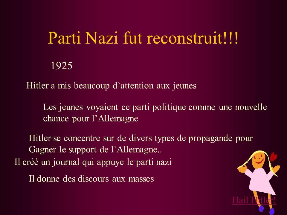 L`Agende de Mein Kampf 1 Allemagne doit déchirer la traité de Versailles 2 Le Gouvenement a besoin d`un chef fort. 3 Les juifs et homosexuels doivent