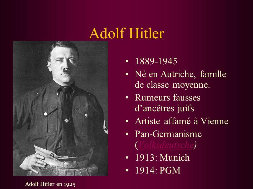 Pour Commencer Allemagne était le perdant majeur de la Première Guerre Mondiale. Elle a souffert d`immenses pertes à cause de la traité de paix. La fo