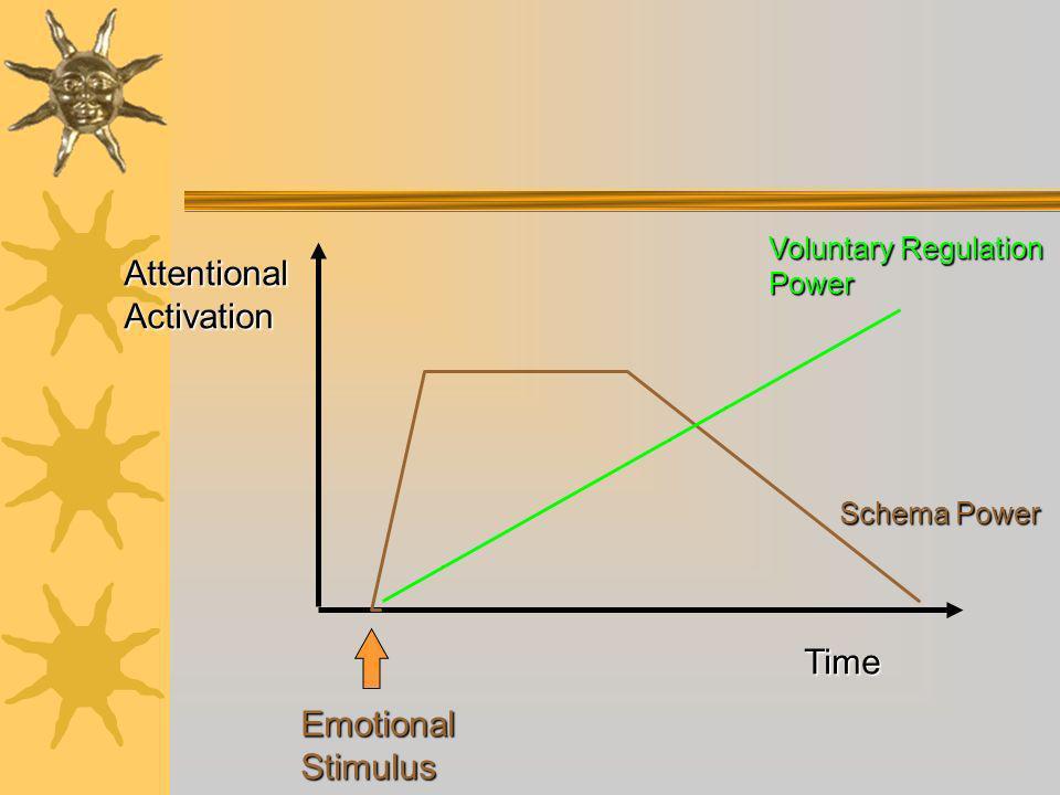 Time Voluntary Regulation Power Schema Power Attentional Activation Emotional Stimulus