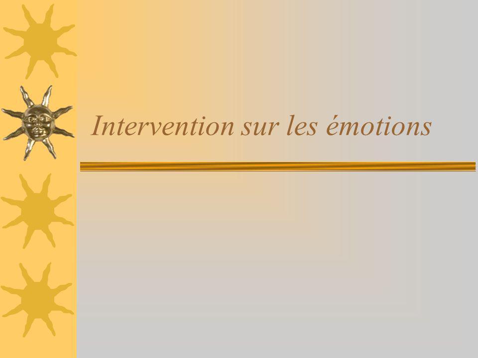 Intervention sur les émotions