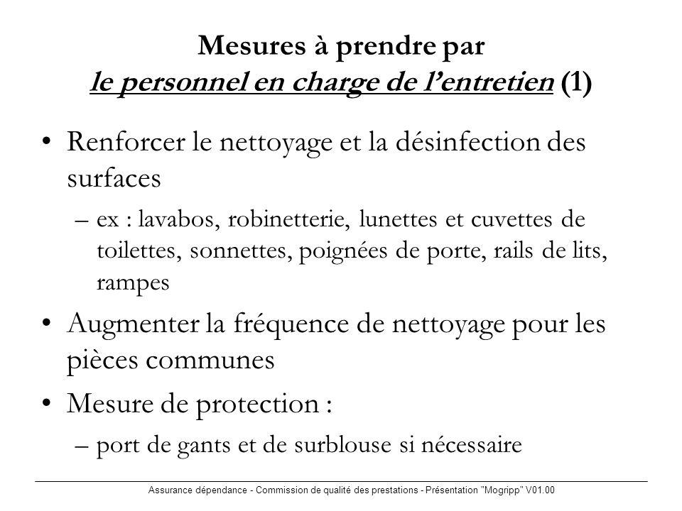 Assurance dépendance - Commission de qualité des prestations - Présentation