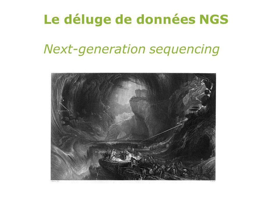 Une grande quantité de données en un temps record (un génome par individu possible) Ce qui change avec les NGS…