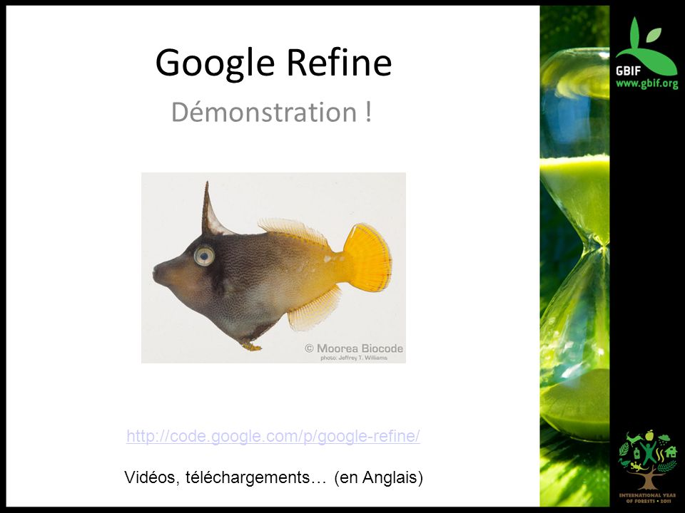Google Refine Démonstration .