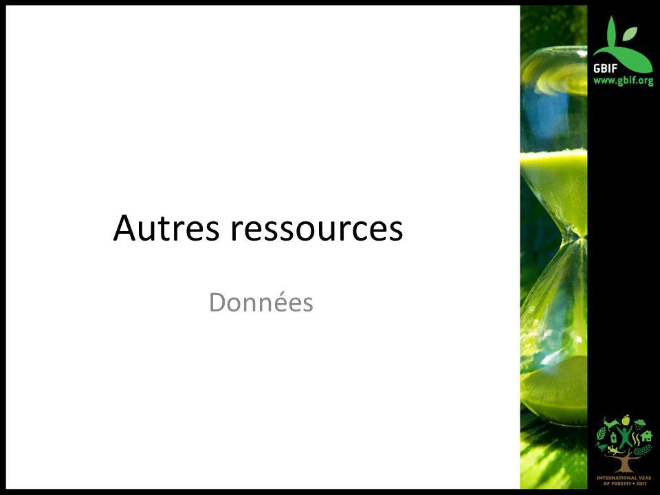 Autres ressources Données