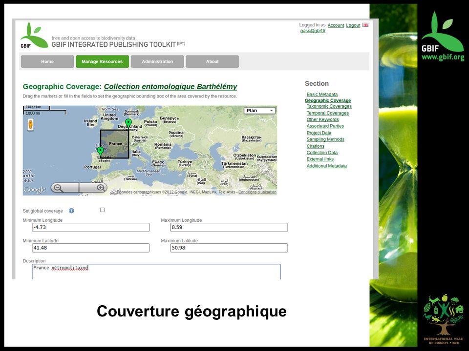 Couverture géographique