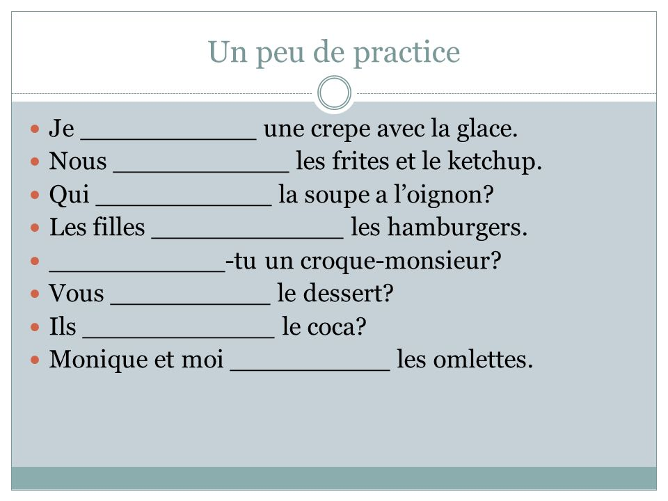 Les autres.Are there other verbs that conjugate like prendre.