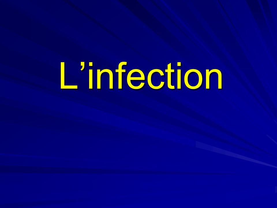 Linfection Ensemble des troubles qui résultent de la pénétration dans un organisme dun être vivant microscopique qui lui est étranger Les agents de linfections sont très divers:bactéries, virus,parasites, champignons… Certains sont spécifiques de certaines maladies: ex f.