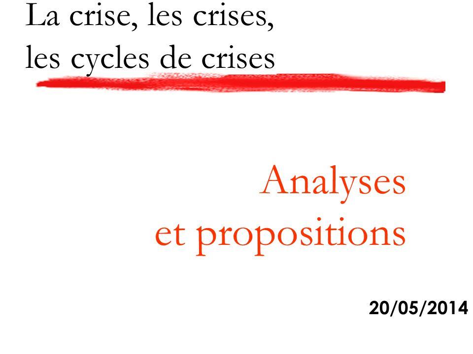 La crise, les crises, les cycles de crises 20/05/2014 Analyses et propositions