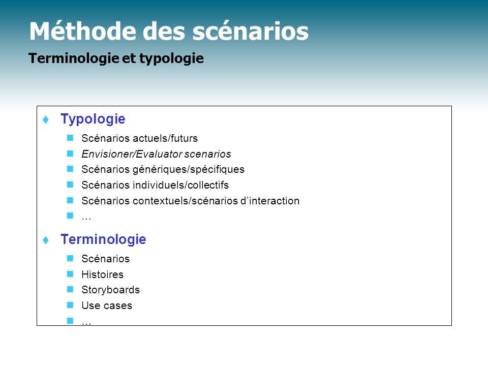 Propositions de conception élaborées à partir des demandes et des scénarios t 9c.